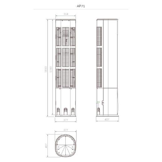 Haier DI ZUN FA HPU-71DF03 biela